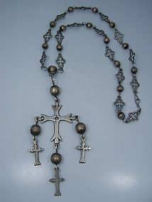 Pre Spratling Cross & Original Chain Necklace
