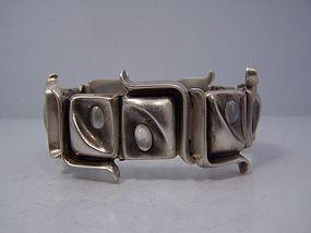 Antonio Pineda Moonstone Mexican Silver Bracelet