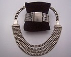 Saul Mexican Silver Vintage Necklace and Bracelet Set