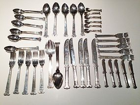 Hector Aguilar Vintage Mexican Solid Sterling Silver Flatware
