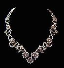 Doris Silver Floral Vintage Mexican Silver Necklace