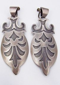 Margarita Vintage Mexican Silver Magnificent Earrings