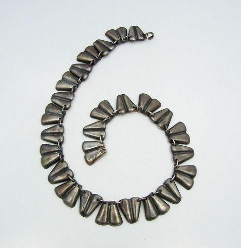 Rare Hector Aguilar Vintage Mexican Silver Necklace