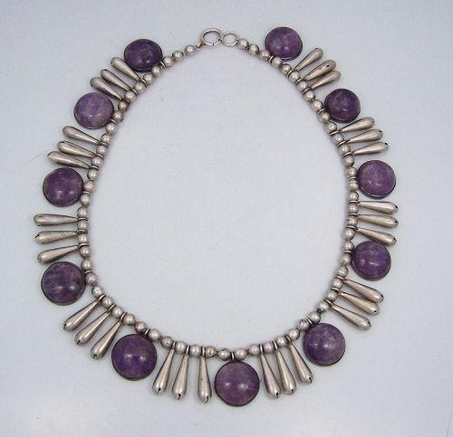 William Spratling Casa Belles Vintage Mexican Silver Necklace