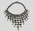 Antonio Pineda Incredible Vintage Mexican Silver Necklace Bib