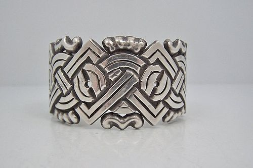 William Spratling X and O Vintage Mexican Silver Cuff
