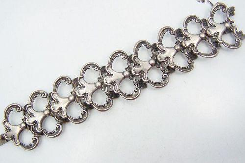 Margot de Taxco 5513 Vintage Mexican Silver Bracelet