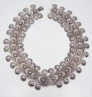 Los Castillo Double Pre Columbian Swirl # 252 Mexican Silver Necklace