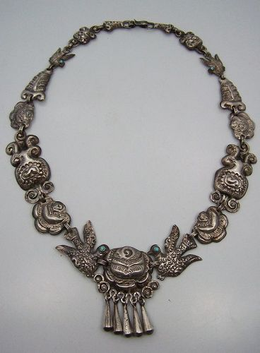Mexican Silver Matl Salas Matilde Poulat Palomas Y Rosas