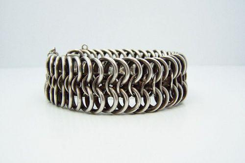 Los Castillo # 715 Vintage Mexican Silver Big Chain Bracelet