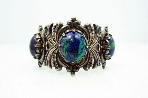 Piedra Y Plata Felipe Martinez Vintage Mexican Silver Azure Malachite