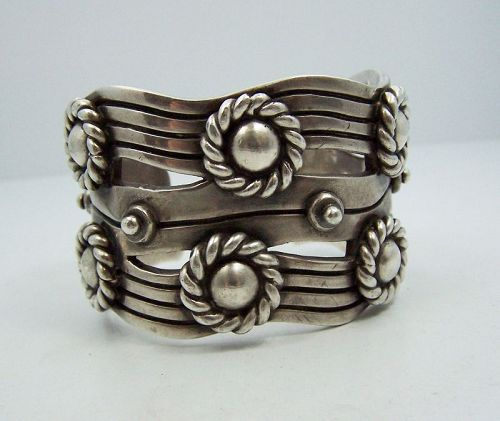 William Spratling River of Life Vintage Mexican Silver