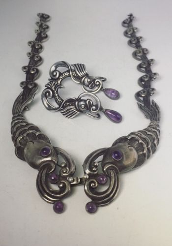 Margot de Taxco 5207 Mexican Silver Rare Fish Necklace