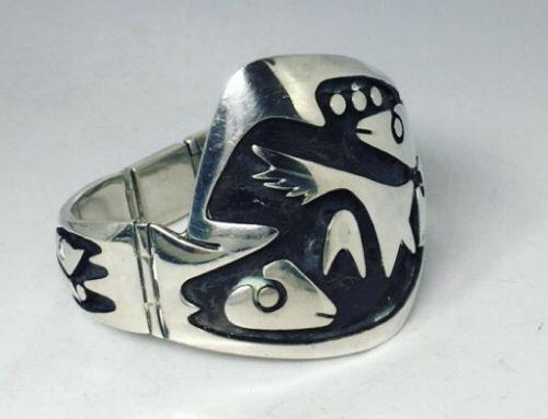 Los Castillo Design 108 Vintage Mexican Silver Bracelet