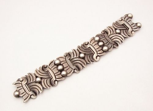 Hector Aguilar Vintage Mexican Silver New Maguey Bracelet