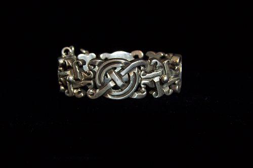 William Spratling X&O Vintage Mexican Silver Bracelet