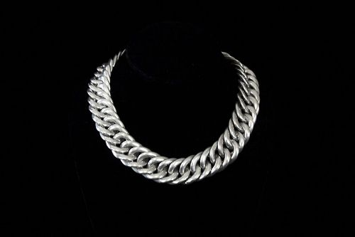 William Spratling Vintage Mexican Silver Large Chain Necklace
