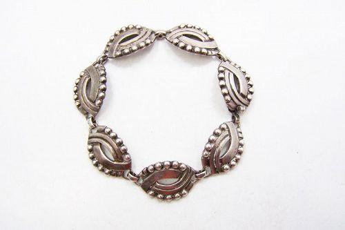 Hector Aguilar Mask Vintage Mexican Silver Bracelet