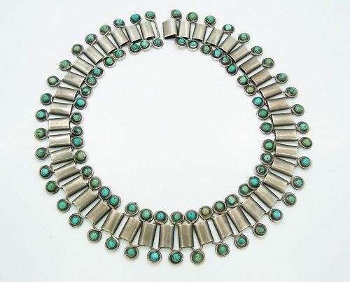 Hector AguilarTurquoise Vintage Mexican Silver Necklace & Bracelet
