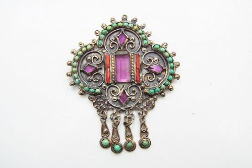 Matl Matilde Poulat Vintage Mexican Silver Brooch
