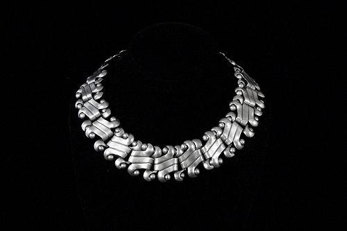 Vintage William Spratling Big Link Mexican Silver Necklace