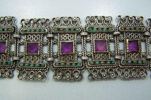 Matl Matilde Poulat Jeweled Vintage  Mexican Bracelet