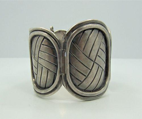 William Spratling Vintage Mexican Silver Petate Bracelet