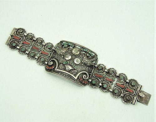 Matl Matilde Poulat  Vintage  Mexican Silver Citrine Bracelet
