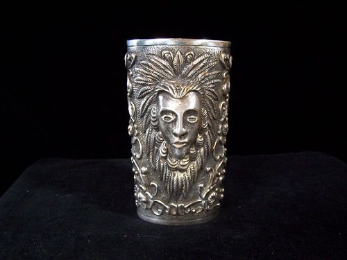 Ortega Vintage Mexican Silver Giant Repousse Cuff Bracelet