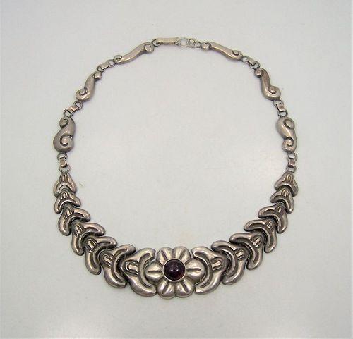 Velazquez Mexico City Folkwork Amethyst Necklace