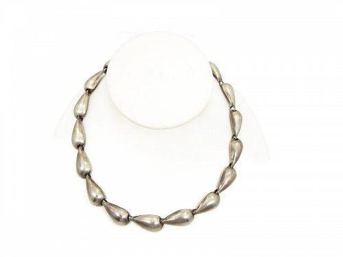 William Vintage Mexican Silver Tear Drop Necklace