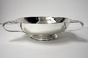 Arts Crafts Sterling Silver hammered Bowl, London 1901