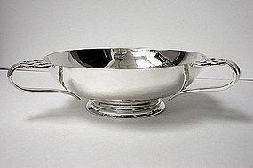 Arts Crafts Sterling Silver hammered Bowl, London 1901