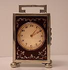 English Silver Carriage Clock, London 1920, Goldsmiths