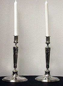 Orivit Jugendstil Secessionist silverplate Candlesticks