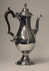 Hester Bateman Georgian Silver Coffee Pot, London 1783
