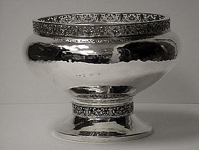 A.E.Jones Arts and Crafts Silver hammered Bowl 1920