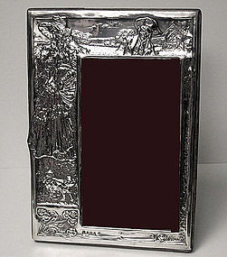 Art Nouveau Antique Silver Photograph Frame, 1906