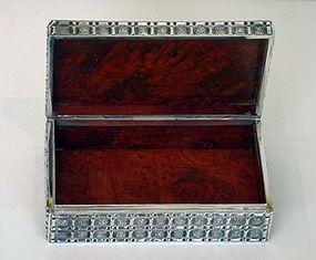 Asian Silver Box, marked 0.900 Le Loi C.1920