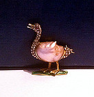 Enamel, Diamond, Pearl and Ruby Duck Brooch, C.1880
