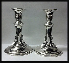 Carl Poul Petersen Sterling Candlesticks, Montreal 1950
