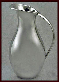 Juvento Lopez Reyes, C.1950 Mexican Sterling Water Jug