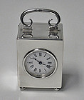 Antique Silver Carriage Clock London 1913 Goldsmiths Co