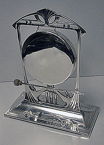 W.M.F Art Nouveau Secessionist Jugendstil Gong C.1900