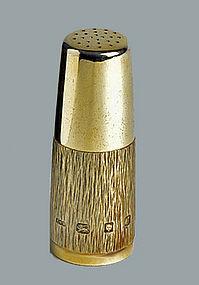 Gerald Benney English Silver Gilt Pepper Caster. London
