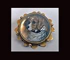 Reverse Intaglio Crystal Dog brooch, C.1880.