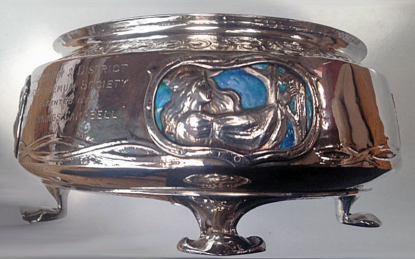 Liberty Silver Enamel Bowl Cymric 1902