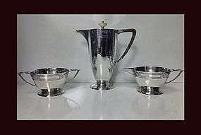 American Arts and Crafts Sterling Coffee Service, C1905