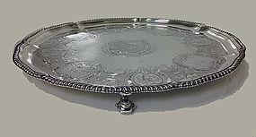Robert Garrard Antique Silver Salver, London 1830