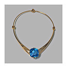 Leif Bergmark 18K Topaz Necklace Sweden 20th century